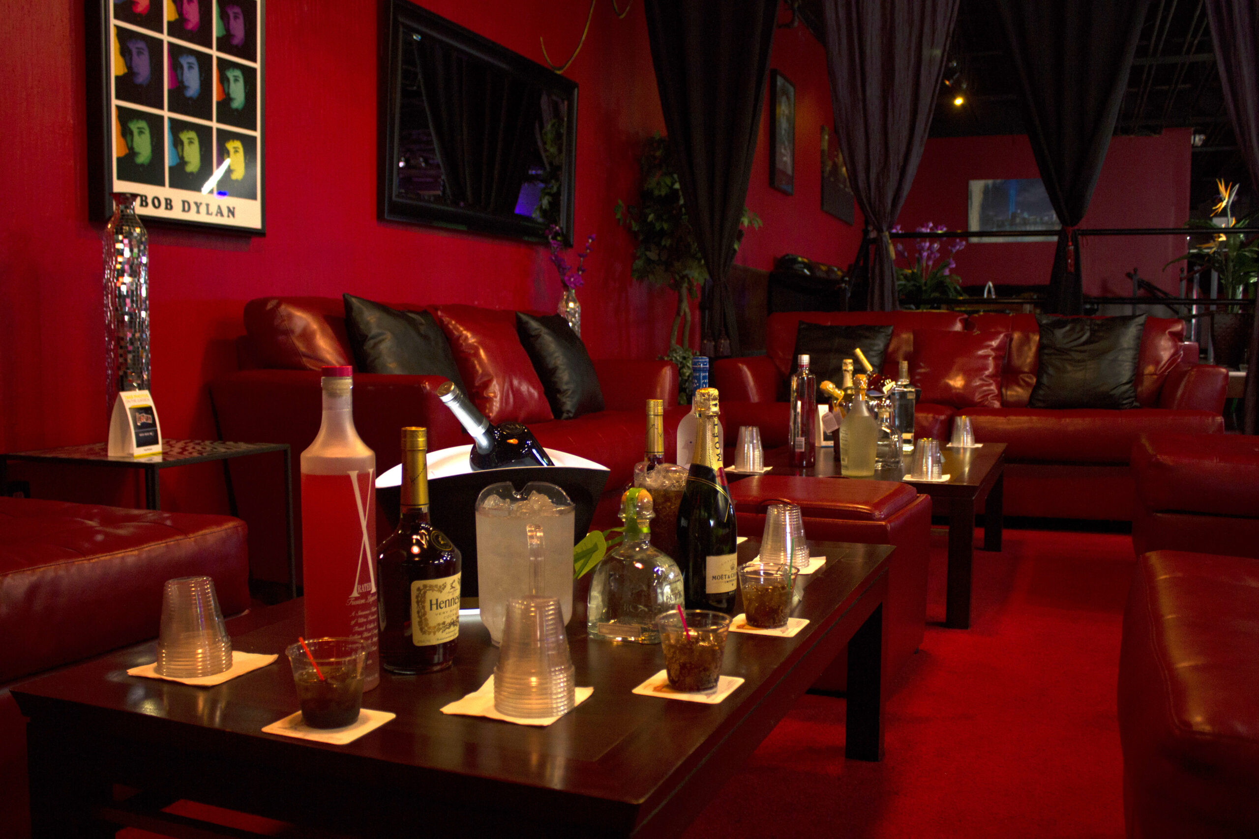 Side View Diamond VIP with bottles